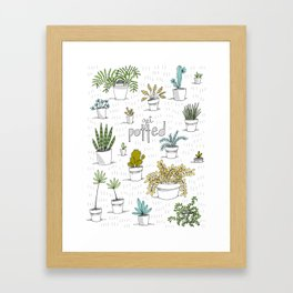 Get Potted Framed Art Print