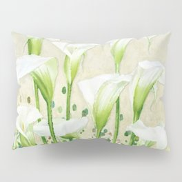 Calla Lily In White Pillow Sham