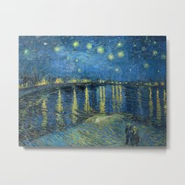 Starry Night Over the Rhône by Vincent van Gogh Metal Print