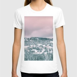 Blush Sky in Woodland Heights T-shirt