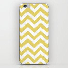 Hansa yellow - beije color - Zigzag Chevron Pattern iPhone Skin