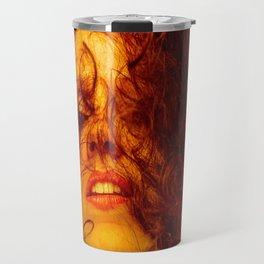 D. in Brown Travel Mug