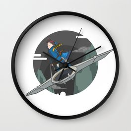 Nausicaa (of the valley of the wind) Wall Clock