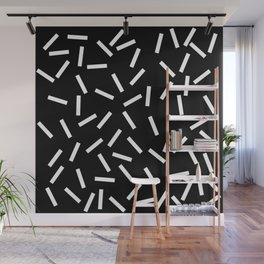 Sprinkles Black Wall Mural