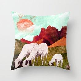 Mountain goats2 Throw Pillow