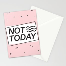 NOT TODAY PINK Stationery Cards