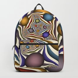 Flying Up, Colorful, Modern, Abstract Fractal Art Backpack