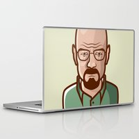 walter white Laptop & iPad Skins featuring Walter White by Sherif Adel