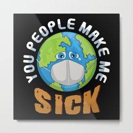 Environmental Pollution Metal Print