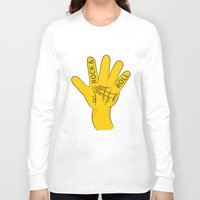 rock and roll Long Sleeve T-shirts featuring Palmistry Rock and Roll by mailboxdisco