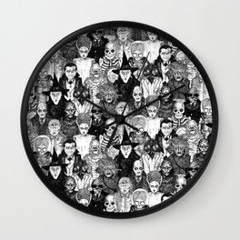Horror Film Monsters Wall Clock