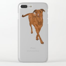 Dog Portrait 2 Clear iPhone Case