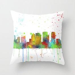Tampa, Florida Skyline Throw Pillow