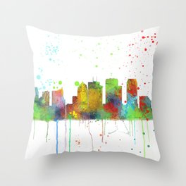 Tampa, Florida Skyline Throw Pillow