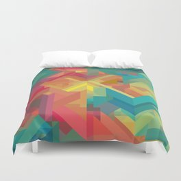 VIBRANT ABSTRACT MULTI COLOR GEOMETRIC PATTERN GRAPHIC Duvet Cover