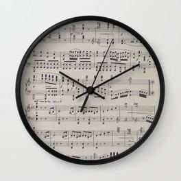 Beethoven - Symphony No. 1 - Sheet Music Wall Clock