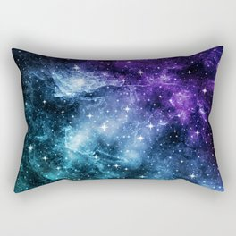 Purple Teal Galaxy Nebula Dream #1 #decor #art #society6 Rectangular Pillow