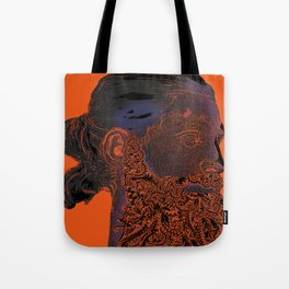 Hipster Neptune - orange Tote Bag