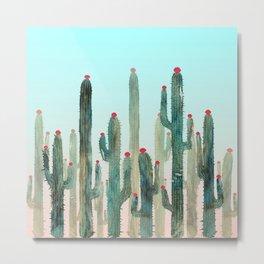 Summer Cactus 4 Metal Print