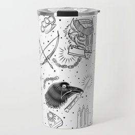 Tattoo Flash American Traditional Travel Mug