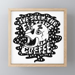 The Future is Coffee Framed Mini Art Print