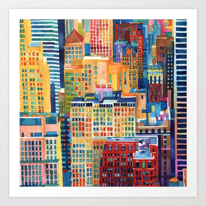 New York buildings Kunstdrucke
