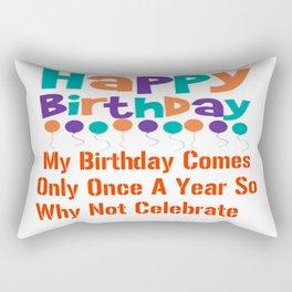 Happy Birthday Design Rectangular Pillow