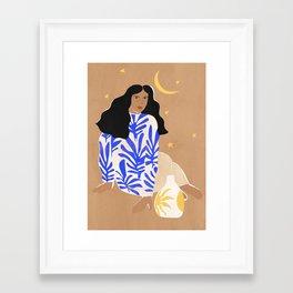 Blue Florals Framed Art Print