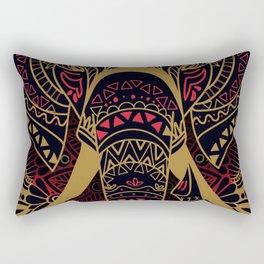 Rubino Zen Elephant Red Rectangular Pillow