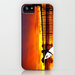 Surfer's Sunset * Huntington Beach, California iPhone Case