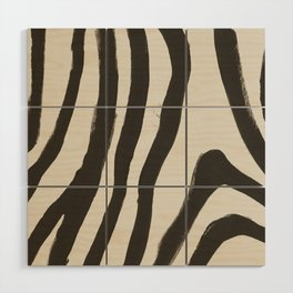 Painted Zebra Wood Wall Art