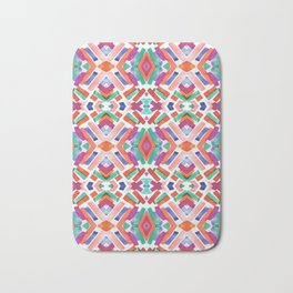 Watercolor Boho Dash 3 Bath Mat