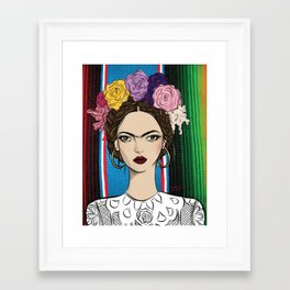 Viva la Frida Framed Art Print