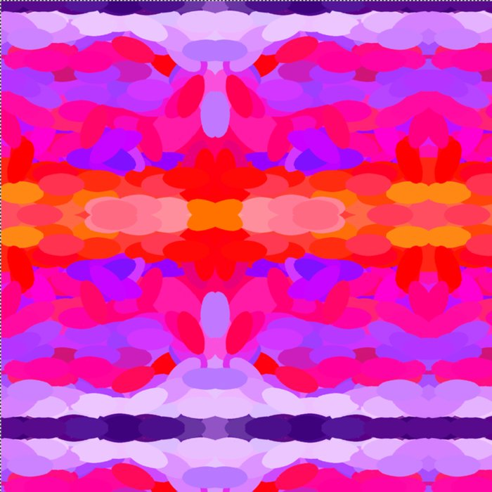 Purple, pink and orange tie dye Comforters