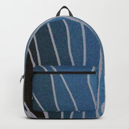 Flowing Blue Shapes Backpack