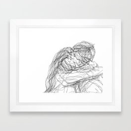 make-out? (B & W) Framed Art Print