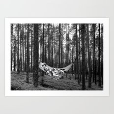BETWEEN TREES Art Print