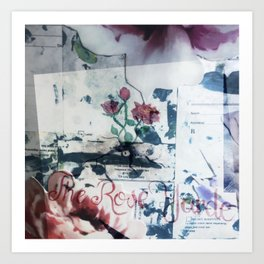Prescription for Flowers at The Rose Yarde Art Print