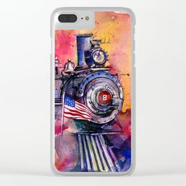 American Train by Kathy Morton Stanion Clear iPhone Case