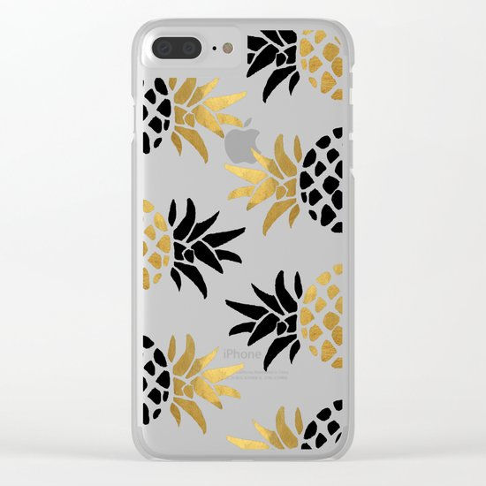 gold pineapple Clear iPhone Case