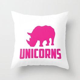 Rhinos are Unicorns Plus Size Cute Zoo animal Throw Pillow