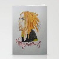 tim shumate Stationery Cards featuring Tim Minchin. by TheArtOfFaithAsylum
