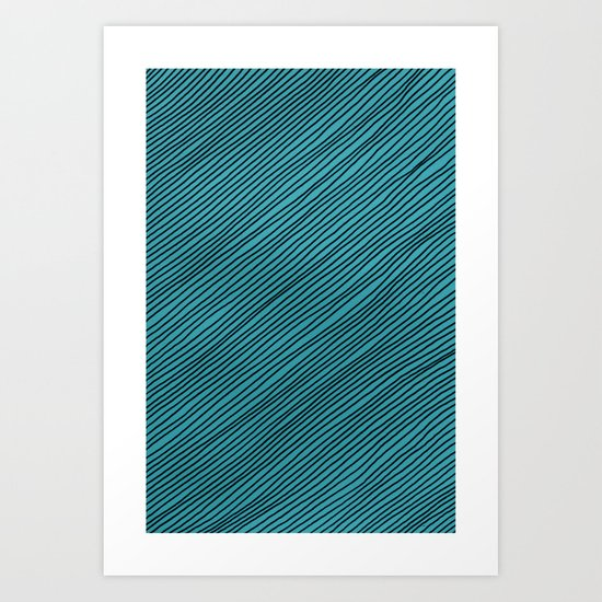Stripes - turchese Art Print
