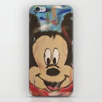 mickey iPhone & iPod Skins featuring Mickey by Jason L Cohen Fine Art