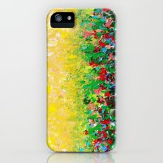 NATURE'S LIVING ROOM - Gorgeous Bright Bold Nature Wildflower Field Landscape Abstract Art New 2012 Slim Case iPhone (5, 5s)