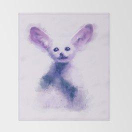 fennec foxy Throw Blanket