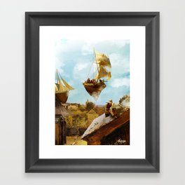 Sky Fishermen Framed Art Print