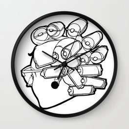 Mom in Rollers Wall Clock