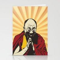 lama Stationery Cards featuring Dalai Lama by ArDem