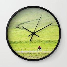 A ride through the hills Wall Clock